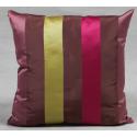 Large Stripe Sateen Finish Cushion - Fuscia