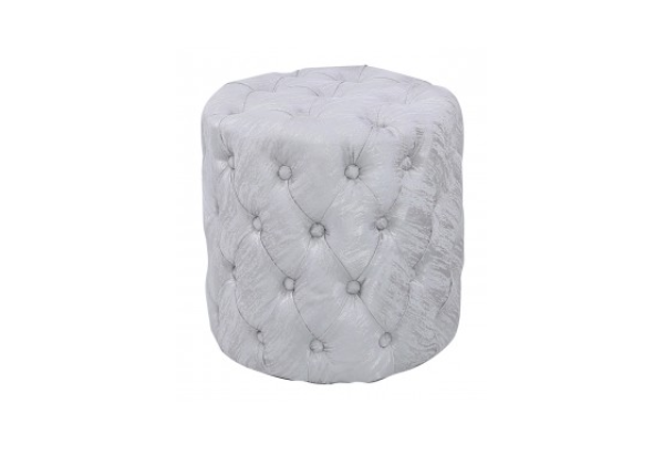 Nala Silver Tufted Stool