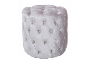 Nala Soft Pink Tufted Stool
