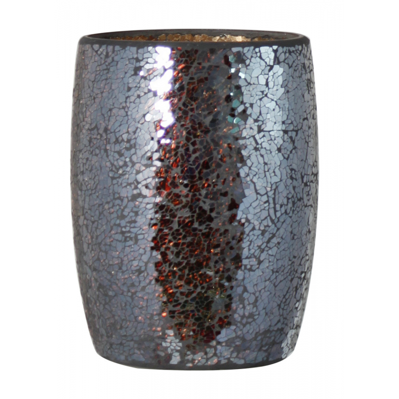 Bronze sparkle mosaic waste bin forever furnishings for Decorative items from waste