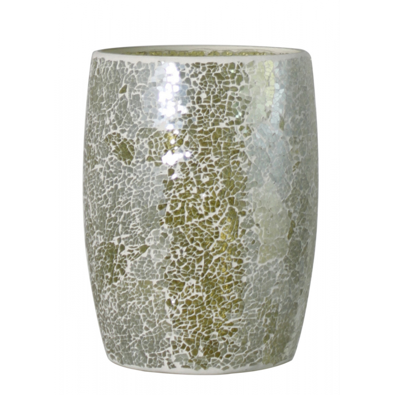 Pistachio sparkle mosaic waste bin forever furnishings for Decorative items from waste
