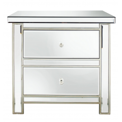 Classic Mirror 2 Drawer Chest