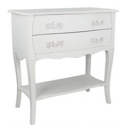 French Ivory Wooden Two Drawer Unit