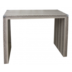 Mocha Snakeskin Console Table