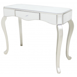 Mirror Console Table with Champagne Trim
