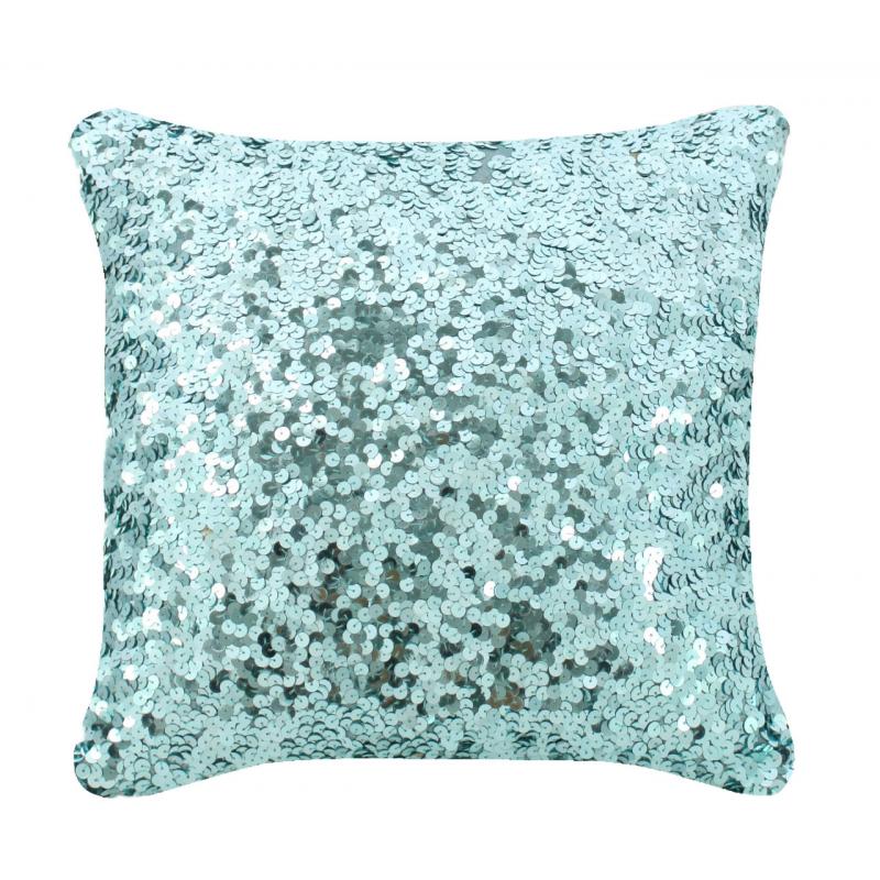 Aqua Sequin Sparkle Cushion Forever Furnishings