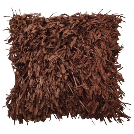Chocolate Shaggy Cushion