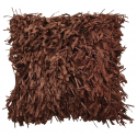 Chocolate Shaggy Cushion