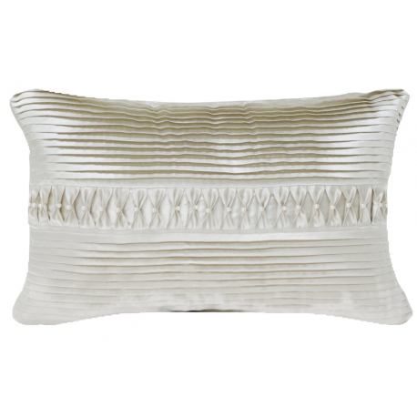 Ivory Pleated Pearl Long Cushion