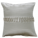 Ivory Pleated Pearl Cushion