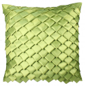 Pistachio Satin Folds Cushion