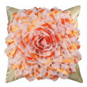 Gold and Terracotta Flower Cushion
