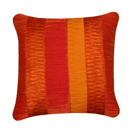 Orange Cushion with Multi Textured Panels