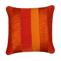 Orange Cushion with Multi Textured Panels