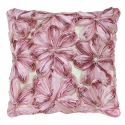 Pink and Lavender Large Ribbon Flower Cushion