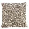 Silver Sequin Crush Cushion