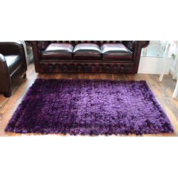 Purple Deep Pile Deluxe Shaggy Rug