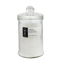 Fresh Cotton Candle in a Glass Jar with a sealable lid