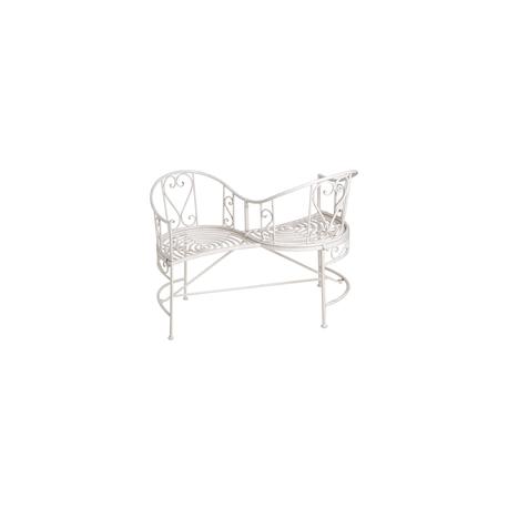 White Metal Garden Love Seat Forever Furnishings