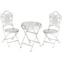 Children's garden table and chairs set - off white