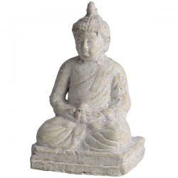 Distressed cream garden Buddha