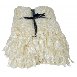 Cream sparkle weave large throw