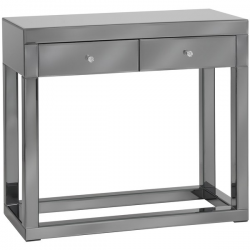 Luxor Smoked Glass / Mirror Console Table