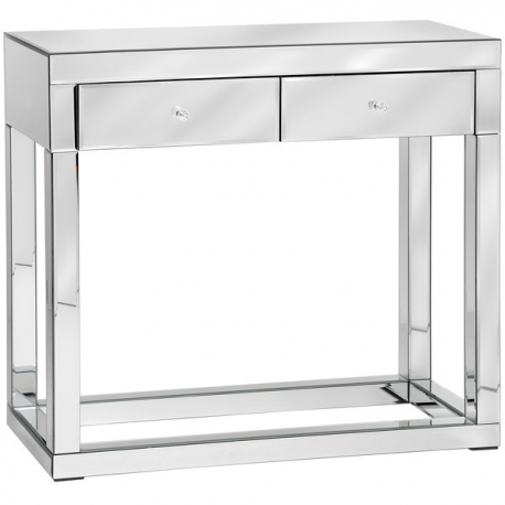 Luxor Mirror Glass Console Table Forever Furnishings