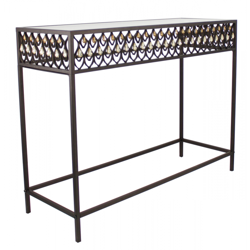 Arabian bronze metal style console table forever furnishings Metal console table