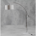 Large Marble Base Arched Floor Lamp