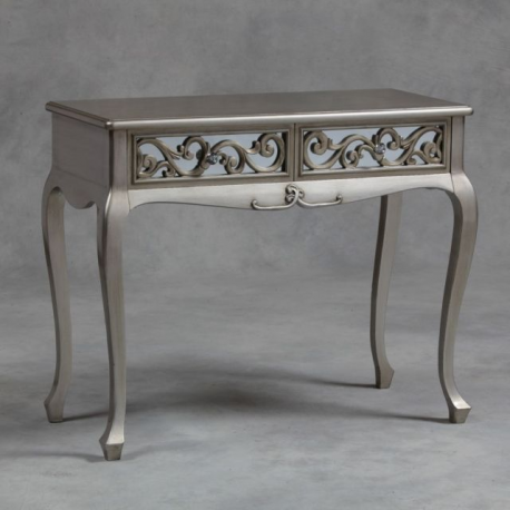 Silver Rococo Mirror Dressing Table Console Forever
