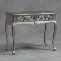 Silver Rococo Mirror Dressing Table/ Console