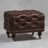 Vintage Leather Chesterfield Brown Leather Foot Stool