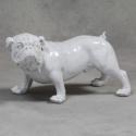 Large White Bulldog Figurine Ornament