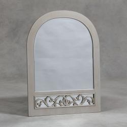 Aged Silver Arch Rococo Wall Mirror