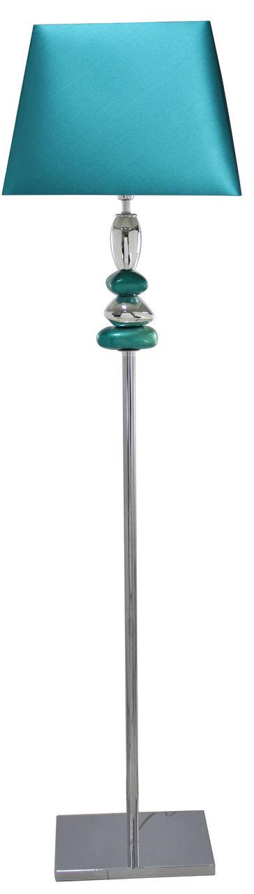 Cobalt blue and chrome pebble floor lamp forever furnishings aloadofball Images