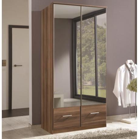 Imagine Double Walnut Mirror Wardrobe Forever Furnishings