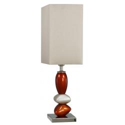 Small Bornzed Terracotta & Champagne Pebble Table Lamp
