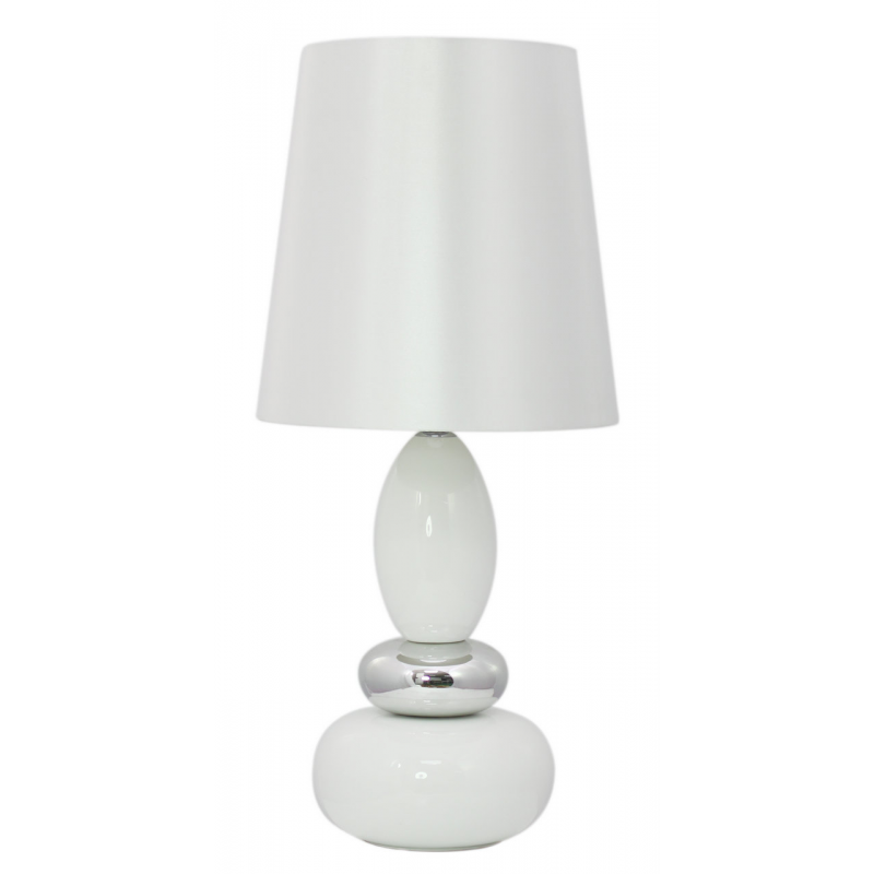 White and chrome pebble tall table lamp forever furnishings white and chrome pebble tall table lamp aloadofball Choice Image