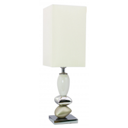 Champagne and White Small Pebble Table Lamp
