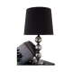 Black 3 Mosaic Silver Ball Table Lamp
