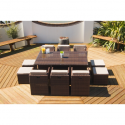 Port Royal Classic Rattan Brown Garden 6 Chair Set
