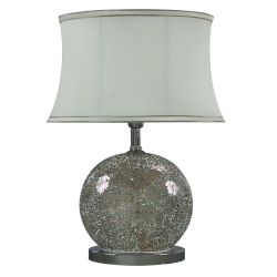 Mercury Silver/Gold Sparkle Mosaic Oval Table Lamp