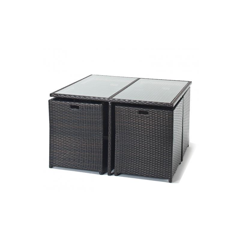 port royal luxe cube 4 seater rattan garden set forever. Black Bedroom Furniture Sets. Home Design Ideas