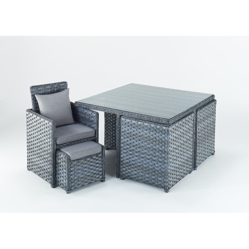 Garden Table And Chairs Set Cube: Port Royal Platinum Cube Garden 4 Seat Dining Set