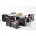 Port Royal Luxe Cube 6 Seater Rattan Garden Set