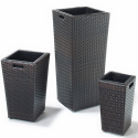 Trio of Rattan Plant Pot / Planters