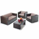 Port Royal Brown Rattan LuxeSofa Set