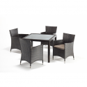 Port Royal Luxe Square Dining Set - 4 Chair