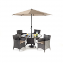 Port Royal Luxe Round Dining 4 Chair set
